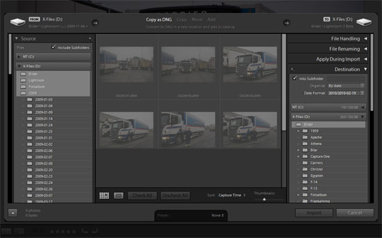 Lightroom 3 Beta - Import