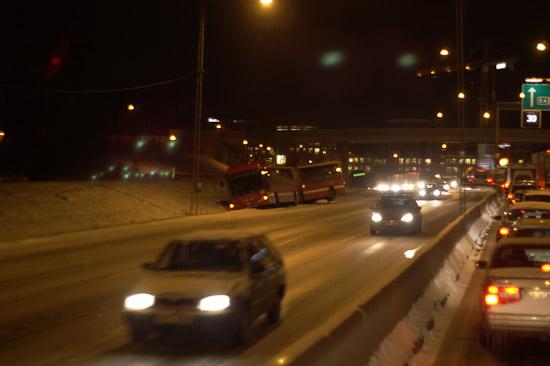 Trafikkaos i Stockholm