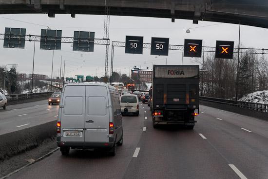 Minskad trafik leder till färre olyckor