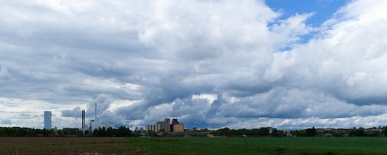 Vackra moln över Enköping
