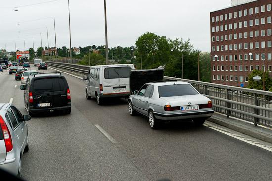 Kokande bilar på grund av trasig kylfläkt