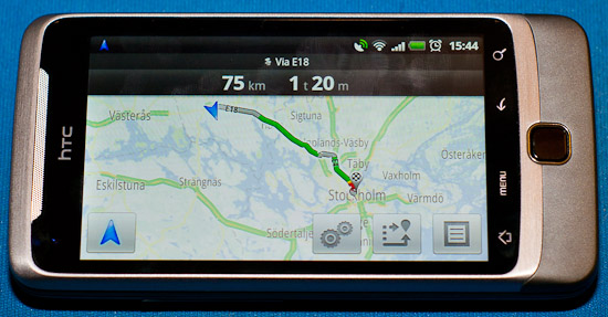 Google Maps Navigation på min HTC Desire Z