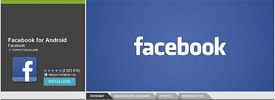 Facebook for Android har rättigheter att läsa och skriva SMS