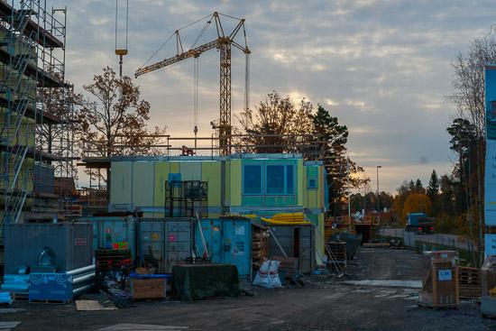 JM's byggarbetsplats Maria Sofias Väg, Tyresö
