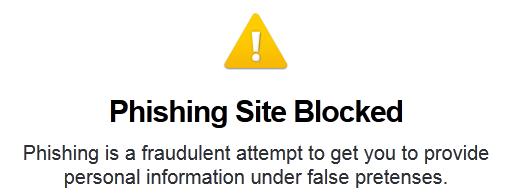 OpenDNS blockerade sidan