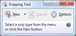 Skärmklippverktyget i Windows