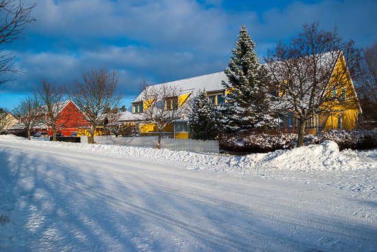 Dagen bjöd på ett underbart vinterväder