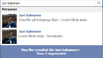 Kopierade profiler på Facebook