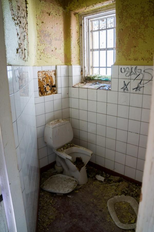 Toaletter i bägge ändarna av korridoren