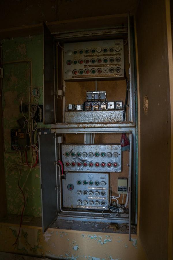 En elcentral på fasta paviljongen
