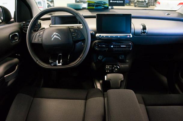 Citroën C4 Cactus har en stilren inredning och instrumenteringq