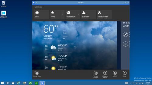 """Windows 10 blandar """"Metro"""" och traditionella skrivbordet"""