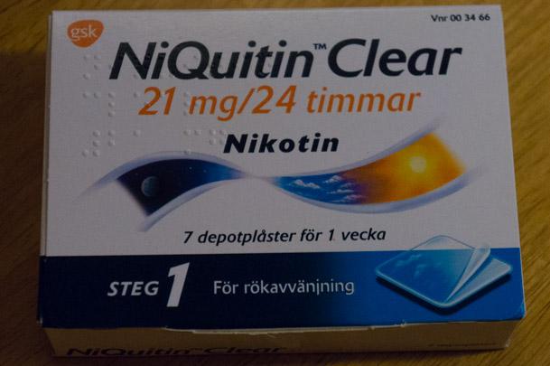Sluta röka med hjälp av nikotinplåster