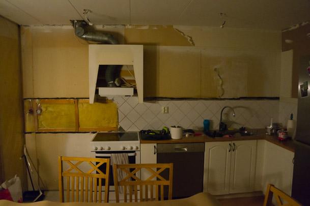 Det gamla köket på väg att rivas