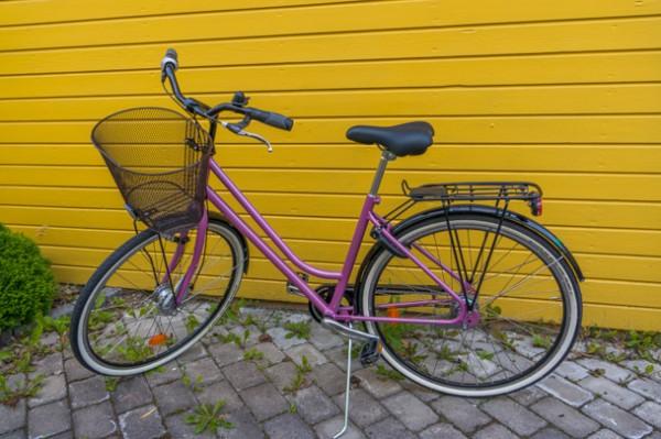 Frun har köpt en cykel