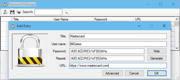 Använd ett program för att skapa och hantera säkra och unika lösenord för varje sida