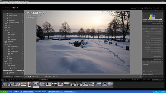 Lightroom 2.5 ser likadant ut som Lightroom 6