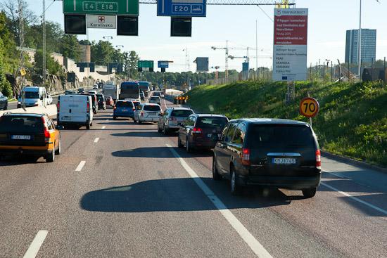 Biltrafiken kostar minuter