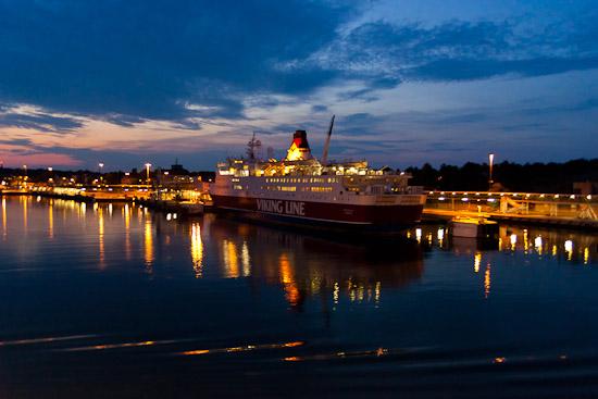Vacker kväll i Mariehamn