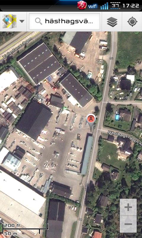 Satellitvy i Google Maps