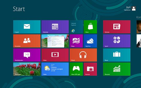 Gränssnittet Metro i Windows 8