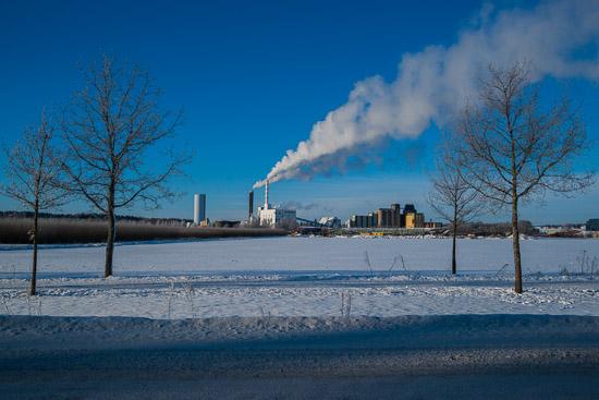 Det eldas hårt i Enköpings Kraftvärmeverk