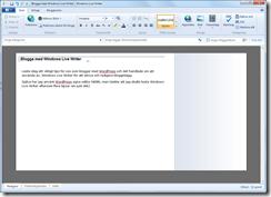 Windows Live Writer rekommenderas istället för WordPress egna editor