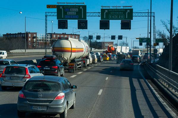 Trafiken skapar oförutsedda hinder
