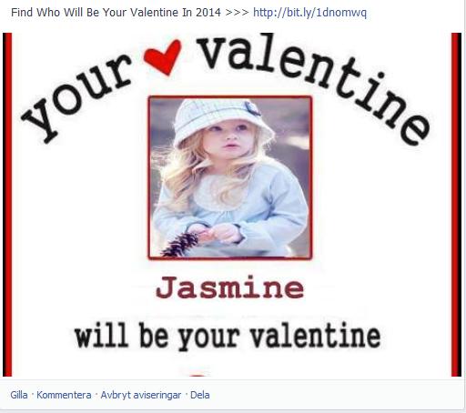 """""""Your Valentine 2014"""" sprider sig som ett virus på Facebook"""