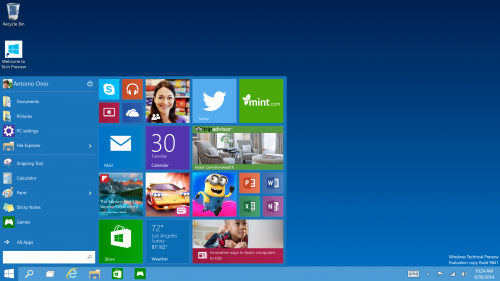 Startmenyn återkommer i Windows 10