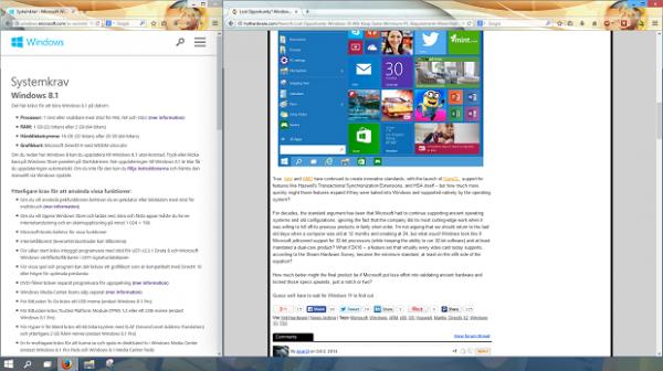 Fönstersnappningen har förbättrats i Windows 10