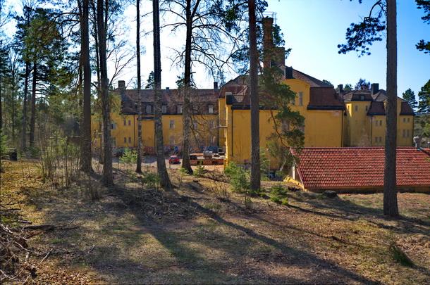 Baksidan av Solbacka sanatorium